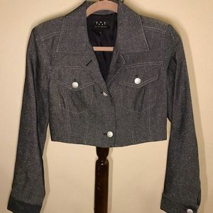 David Meister Short 2 Button Jacket size Small